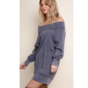 Mineral Washed Tunic Dress